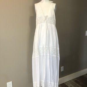 White halter neck summer dress